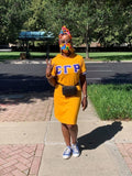 Blue SGRHO Hoodie Tee Dress