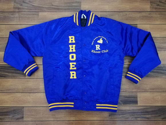 Rhoer Satin Jacket  Royal Blue