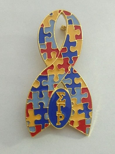 Sigma Gamma Rho Autism Awareness Lapel Pin