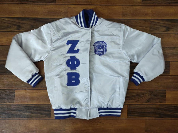 Zeta Satin Jacket  White
