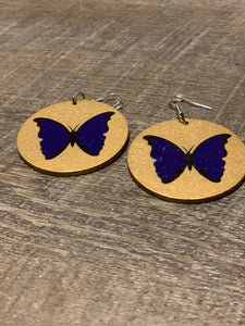 Butterfly Wooden Earrings