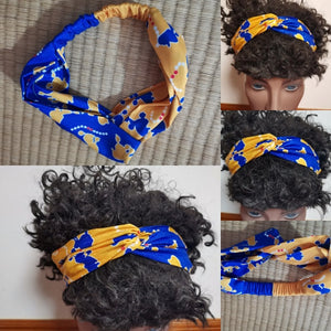 Gold & Blue Poodle Headband