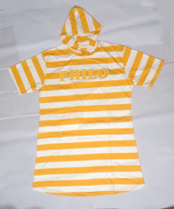 Striped Philo Hoodie Tee Dress