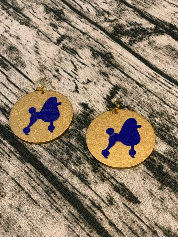 Poodle Wooden Earrings