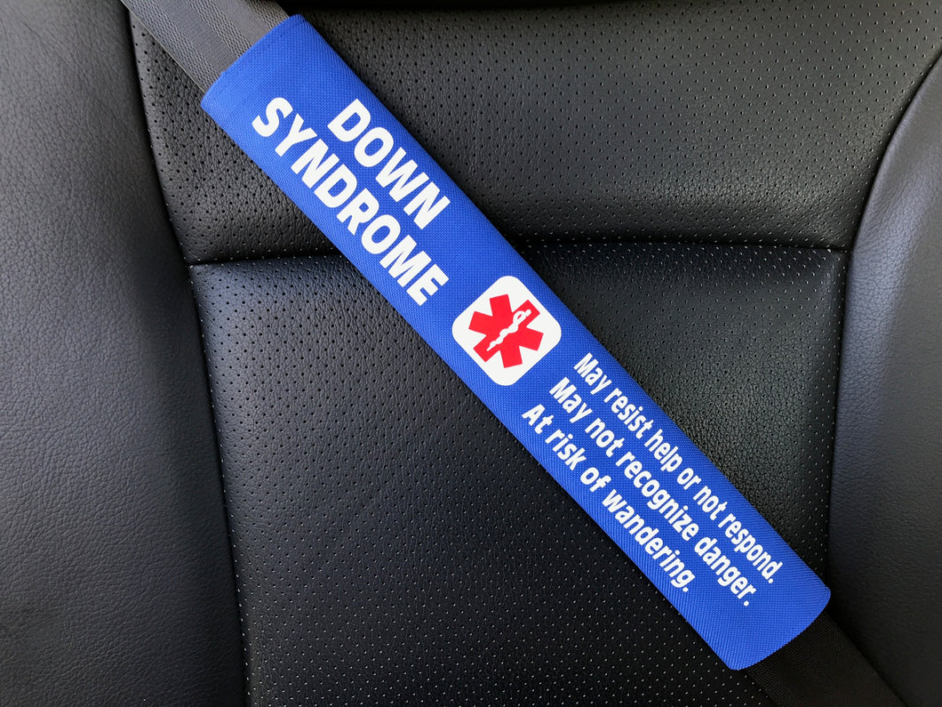 Down Syndrome Medical Alert Seat Belt Cover