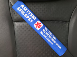Autism Epilepsy Seizure Medical Alert Seat Belt Cover