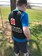 Autism Non-verbal Safety Medical Alert Pressure Vest Adult Youth