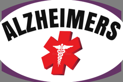 Alzheimer's Stick-N-Go Reusable Any Diagnosis Waterproof