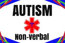 Autism Non-verbal Stick-N-Go Stickers Reusable Any Diagnosis Waterproof Pack of 18