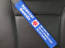 Special Needs Medical Alert Seat Belt Cover