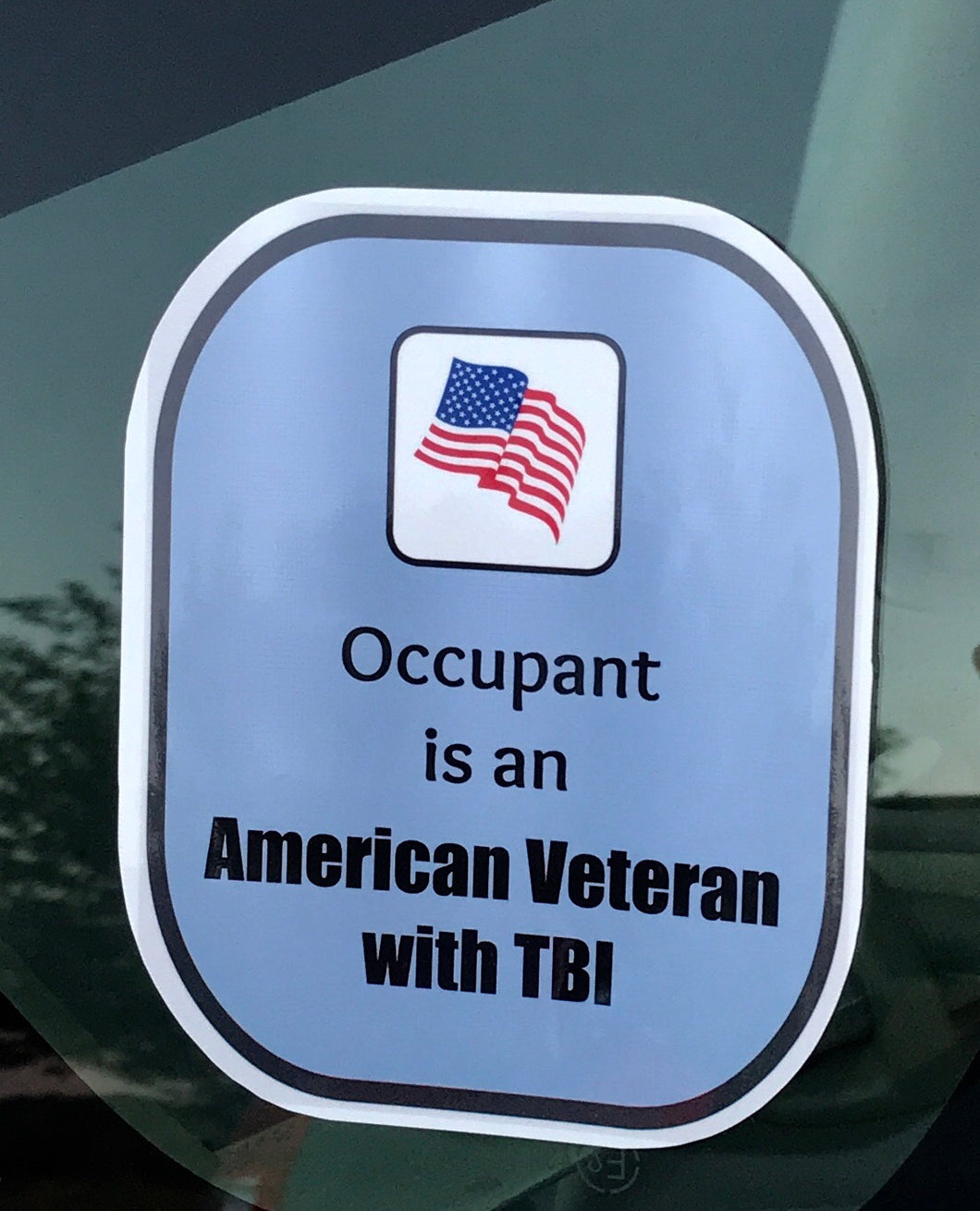 American Veteran TBI Decal Sticker
