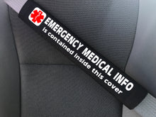 For ANY Medical Condition - Medical Alert Seat Belt Cover - Inside Pocket - Medical Info Sheet