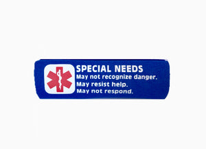 Special Needs Medical Alert Backpack Strap - Seat Belt Cover