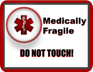 Medically Fragile Stick-N-Go Reusable Any Diagnosis Waterproof Pack of 18