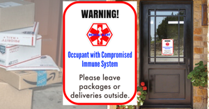 Compromised Immunity Door Decal