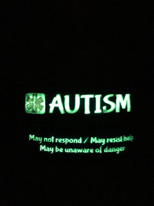 Autism Medical Alert Wristband Glow in the Dark Safety Bracelet