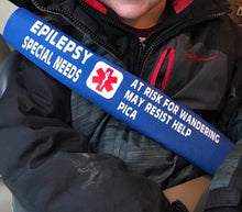 Custom Printed Seat Belt Cover Medical Alert Special Needs Any Diagnosis