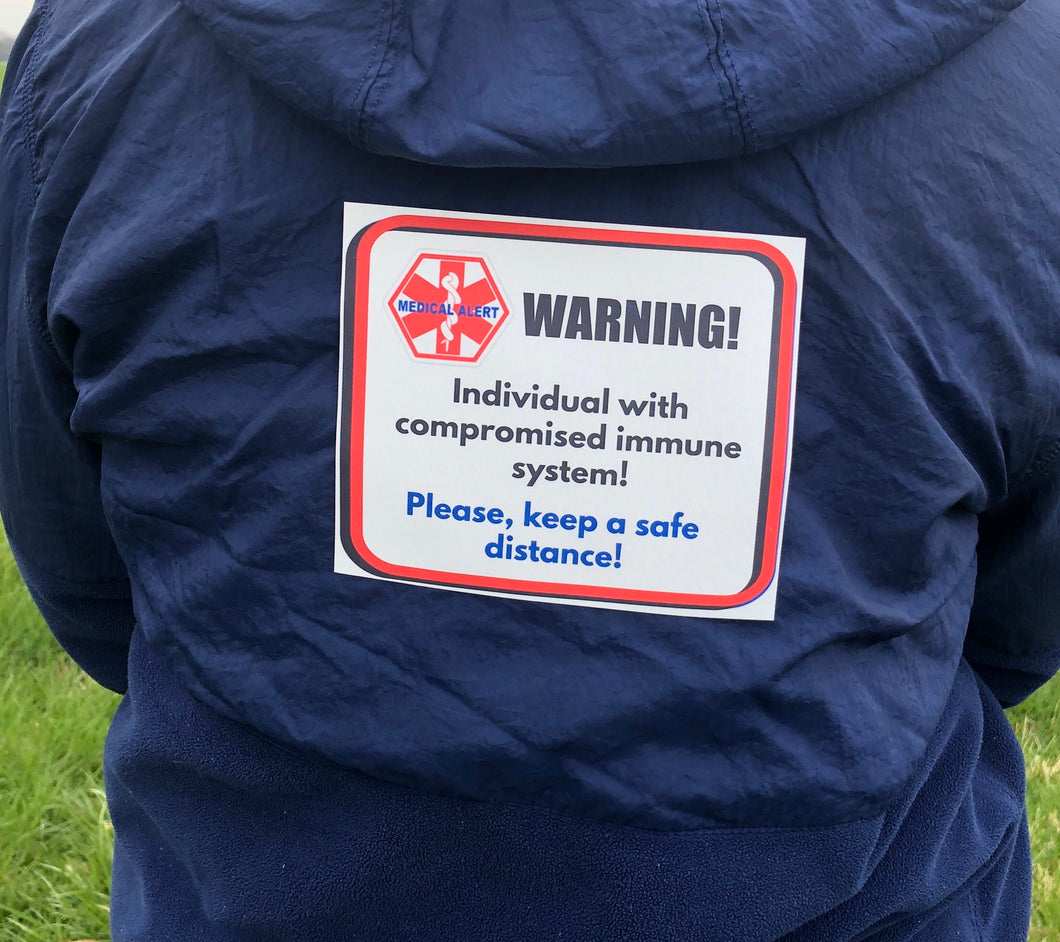 Compromised Immunity - Re-usable - Soft Polyester Fabric Patches