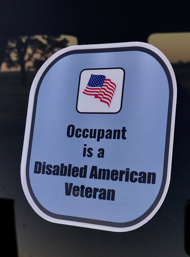 Disabled American Veteran Decal Sticker