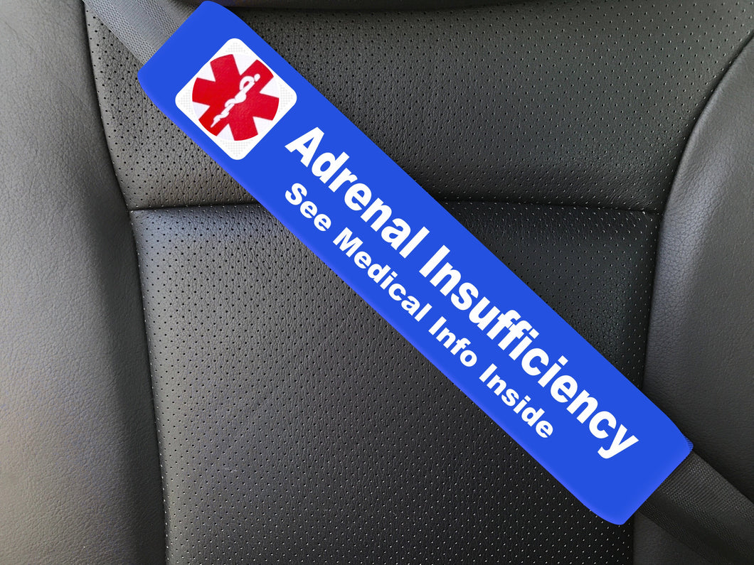Addison's Disease - Adrenal Insufficiency Medical Alert Seat Belt Cover