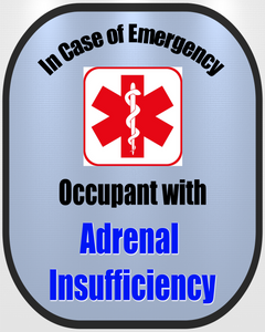 Addison's - Adrenal Insufficiency Decal Medical Alert Safety Sticker