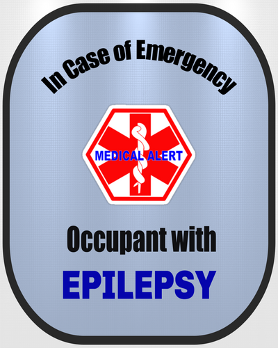 Epilepsy Decal Medical Alert Safety Sticker