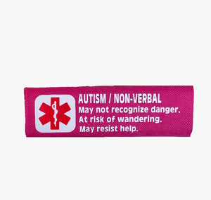 Car Seat/Harness Autism Non-verbal Medical Alert Seat Belt Cover