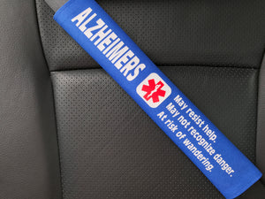 Alzheimers Medical Alert Seat Belt Cover