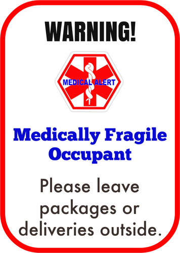 Medically Fragile Door Decal