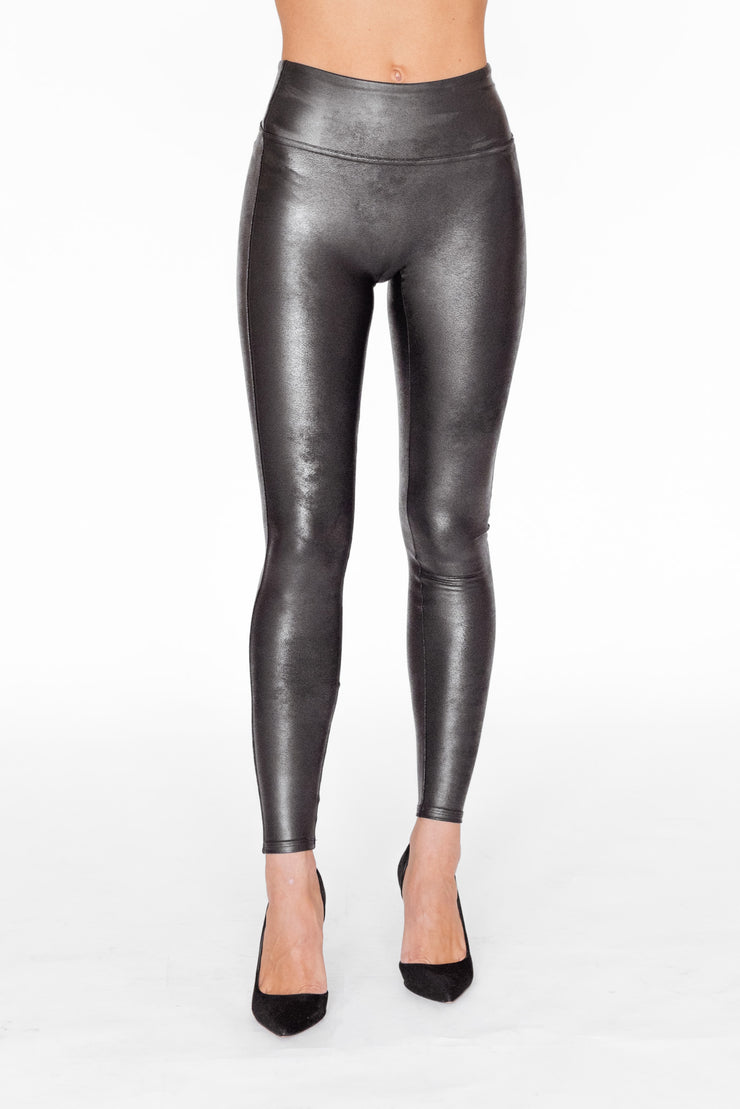 Faux Leather Legging Black