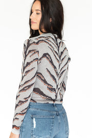 Tiger Sweater Silver