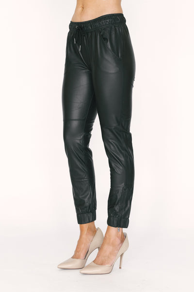 Ankle Zip Jogger Black