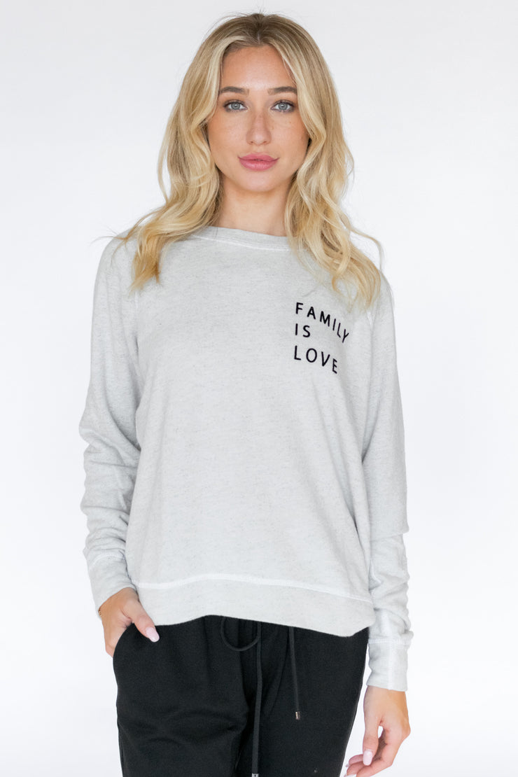 Smith Retro Fit Crew Pullover Family Is Love