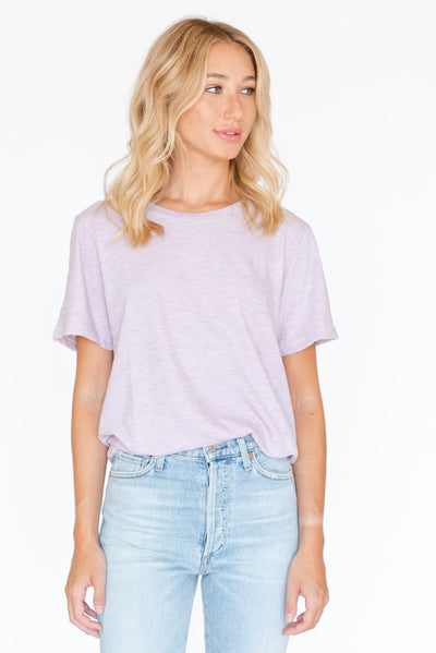 Burn Out Oversized Tee Lavender