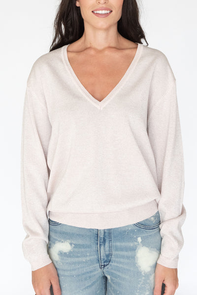 Cosmic V Neck Sweater Blush