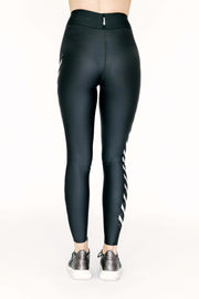 Ultra High Chevron Pixelate Nero/Silver Legging