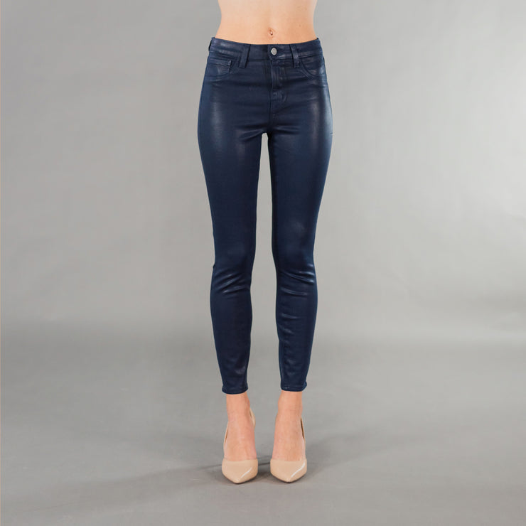 Margot High Rise Skinny Navy Coated
