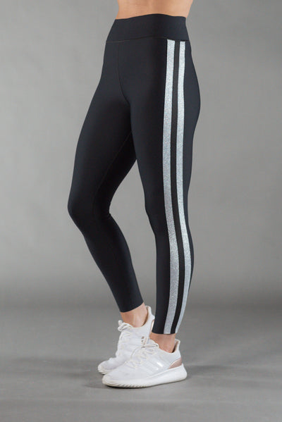 Ultra High Collegiate Nero/Silver Legging