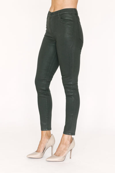 Margot High Rise Skinny Army Coated