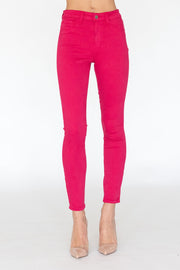 Margot High Rise Skinny Magenta