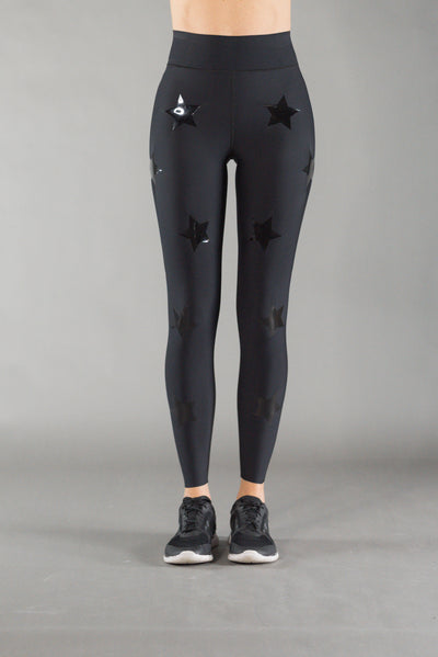 Ultra High Knockout Nero/Patent Legging