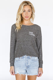 Dave L/S Crew Neck Sweater F#@ck Cancer