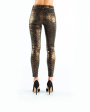 Margot High Rise Skinny Cheetah Coated