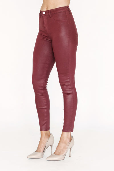 Margot High Rise Skinny Berry Coated