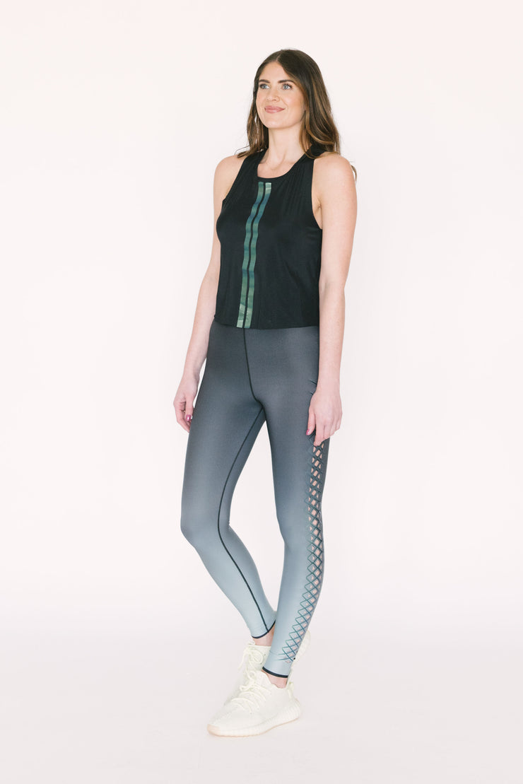 Interlace Legging Mint Peacock