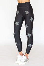 Ultra High Lux Knockout Nero Graphite Reflective Legging Nero Graphite