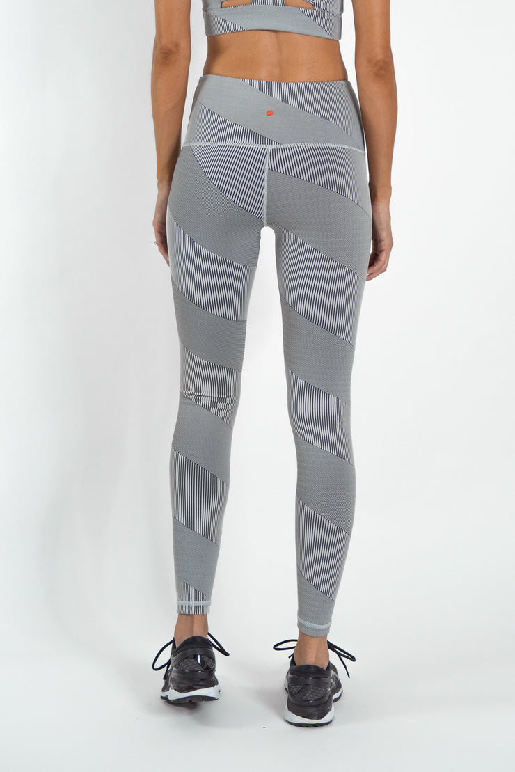 High Waist Stripe Jacquard Legging