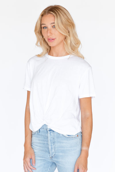 White Twisted Tee
