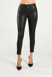 Margot High Rise Skinny Black Coated