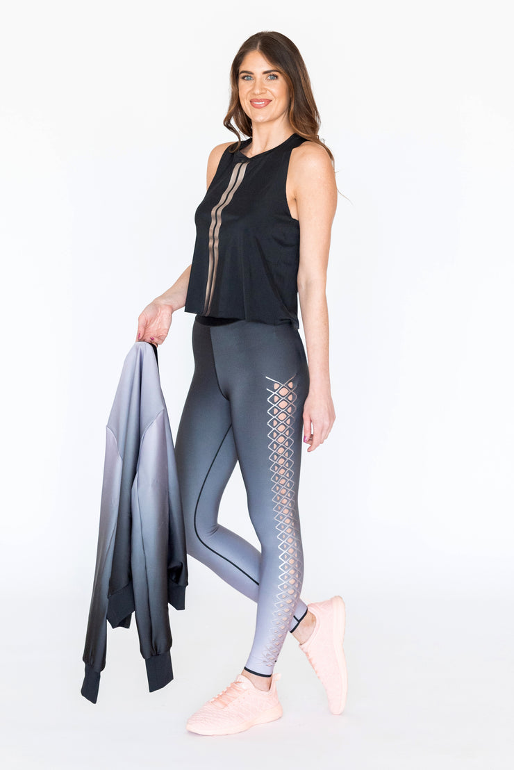 Interlace Legging Metallic Rose